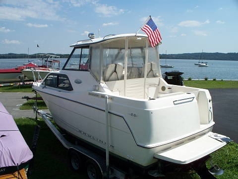 Our 2003 2452 in her dry slip at Long Level, PA on the Susquehanna River (Lake Clarke to be exact)